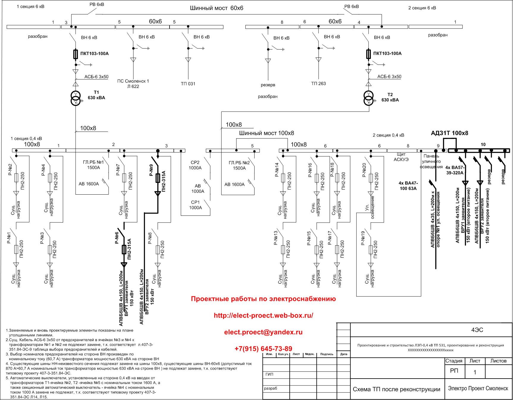 Расчет токов узлов схема электроснабжение